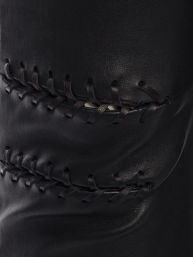 Alexander McQueen Whipstitch leather leggings $2995 close up