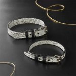 ballouch-black-and-white-leather-collars Ware of the Dogcollar