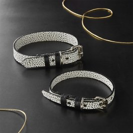ballouch-black-and-white-leather-collars Ware of the Dog collar