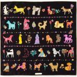Salvatore Ferragamo Chinese Zodiac 2018 Year of the Dog Silk Scarf, 70cm, Black,Women's