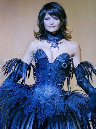 Theirry Mugler SS 1994 blue-corset-corset-dresses Helene Christiansen corset