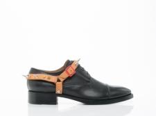 Acne-Studios-shoes-Manson-Stud-Mens-(Black-Beige)- side