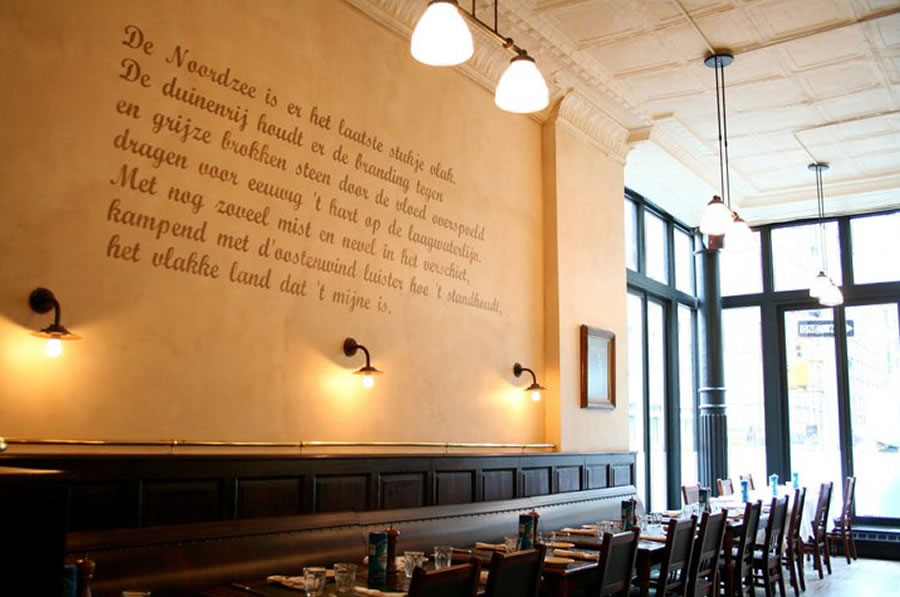 Bistro-Wall-Art-for-Restaurant -Interior-Design-of-Belgian-Dining-Markt-New-York & Bistro-Wall-Art-for-Restaurant-Interior-Design-of-Belgian-Dining ...