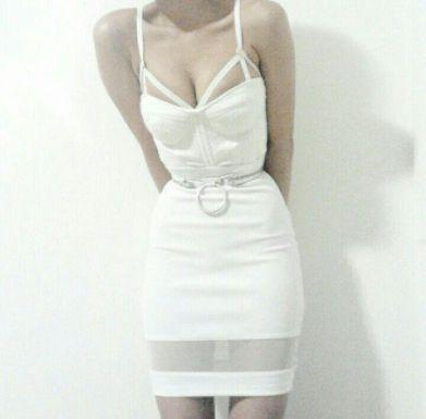 Creepyyaha white dress