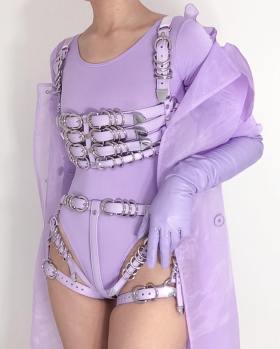 Creepyyeha Lavender Leather
