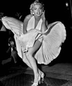 Marilyn Monroe's infamous white dress from 1955 classic with white brief from The Seven Year Itch