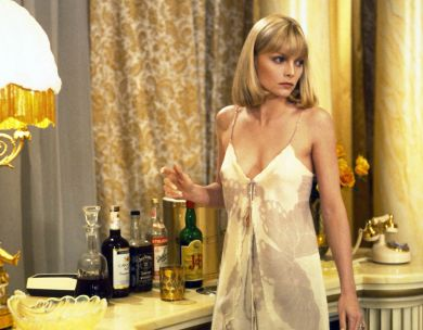 Michelle Pfeiffer's satin slip in 1983 movie Scarface