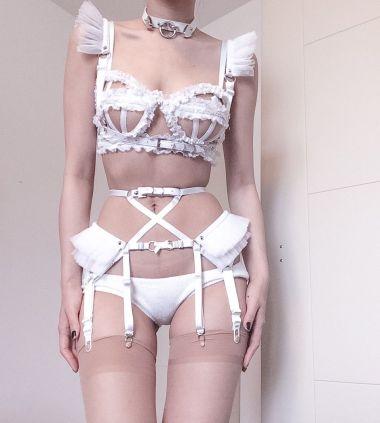 Tutu Garter Belt ( White ) · CREEPYYEHA