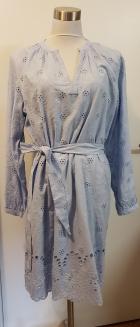 H&M Cotton Eyelet lgiht blue dress