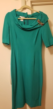 Oscar de la Renta Turquoise Dress