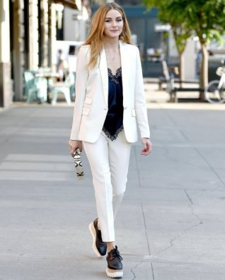 black-silk-camisole-white-suit