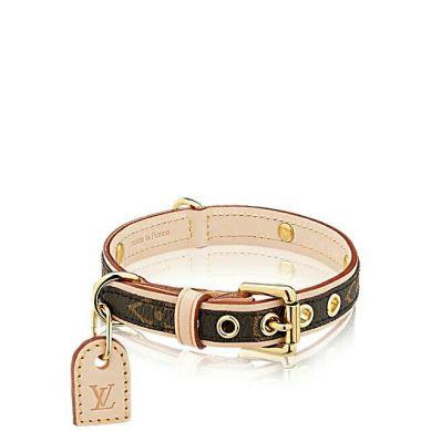 louis-vuitton-baxter-dog-collar-pm-monogram-travel- $315