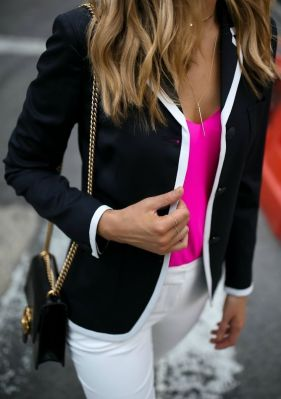 pink blazer camisole