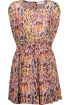 IRO Ohno pleater printed crepe de chine cotton mini dress OutNet
