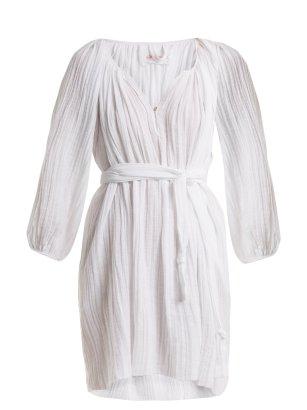 Loup Charmant Peasant Cotton Tunic Dress $375