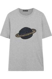 Markus Lupfer Alex embellished cotton blend t-shirt $250