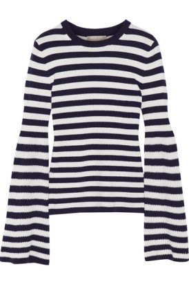 Michael Kors Striped Cashmere Sweater $900 on sale for $390
