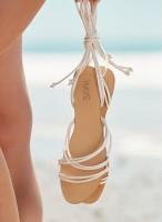 Raye Sandal White Leather