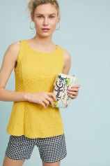 Seamed and Textured Tank Yellow