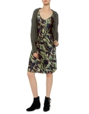 velvet strap camouflage midi slidress light camouflage Nili Lotan