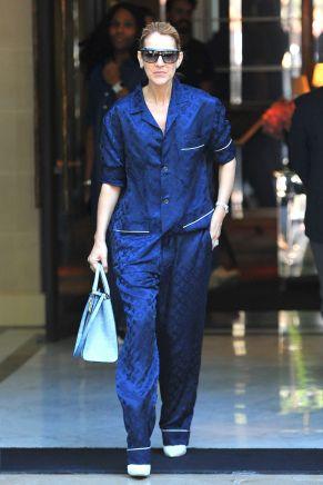 Celine Dion pajamas Paris 2017