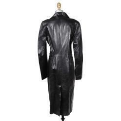 Gucci Raw black leather coat Decades Two black
