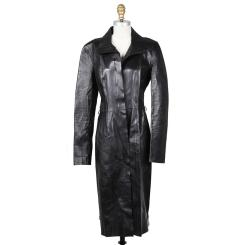 Gucci Raw black leather coat Decades Two