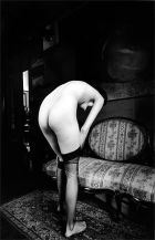 Jean Loup Sieff Putting on Stockings