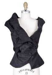 Vivienne Westwood Assymetrical Vest Black Decades Two