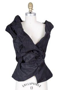 Vivienne Westwood Assymetrical Vest Black Decades Two