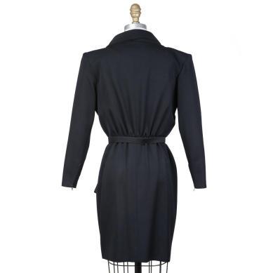 Yves Saint Laurent Vintage 1980s Black Dress Decades Two back