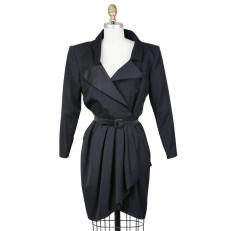 Yves Saint Laurent Vintage 1980s Black Dress Decades Two