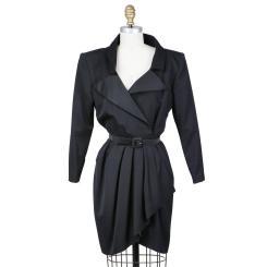 Yves Saint Laurent Vintage 1980s Black Dress Decades Two