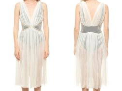1970's pleated goddess gown sold vintage