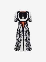 Alexander McQueen Beetle Jacquard Mini Dress