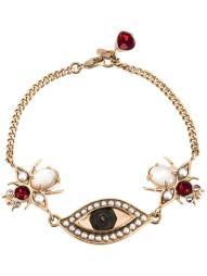 Alexander McQueen eye and beetle charm bracelet
