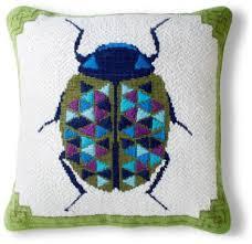 Anne Hepfer Designs Pillow Beetle