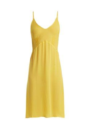 Araks Pin-Tuck pleats Cadel silk-crepe slip $158 on sale Matches Fashion