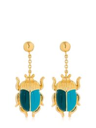 Aurelie Bidermann Beetle Earrings