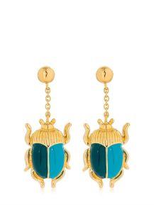 Aurelie Bidermann Beetle Earrings