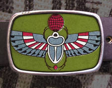 eBay Egyptian Scarab Beetle Vintage inspired Art Gift Gun Weapon Belt Buckle