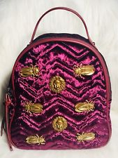 eBay Maroon Velvet Backpack Gold Lion Head Egyptian Scarab Beetle