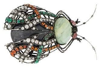Iradj Moini Multistone Beetle Brooch Pin