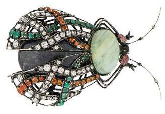 Iradj Moini Multistone Beetle Brooch Pin