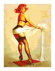 Pin up exercising in heels