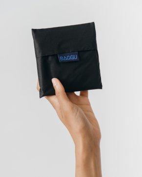 Standard BAG_BLack baggu folded up