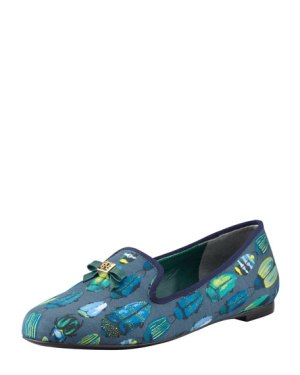 Tory Burch Chandra Beetle Print Shoe Neiman Marcus