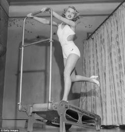 Vintage workout treadmill heels
