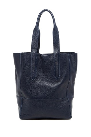 Christopher Kon Navy Pebbled-leather Tote