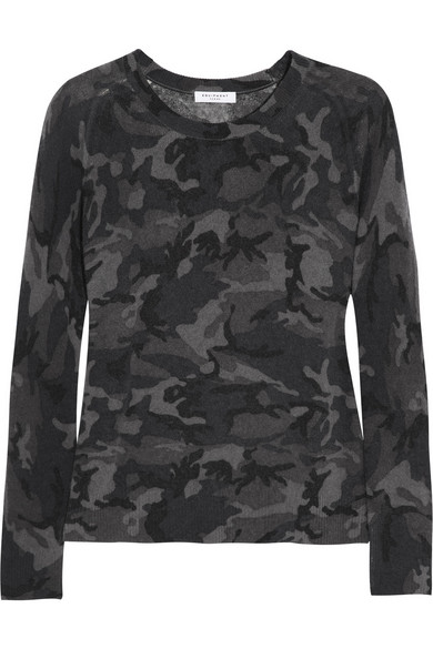 Equipment Black Camouflage Cashmere Sweater
